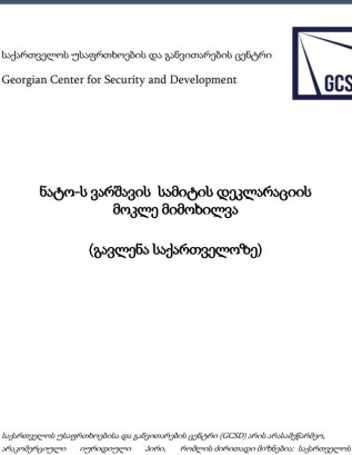 NATO-Warsaw Summit and Brief Analyze (In Georgian)